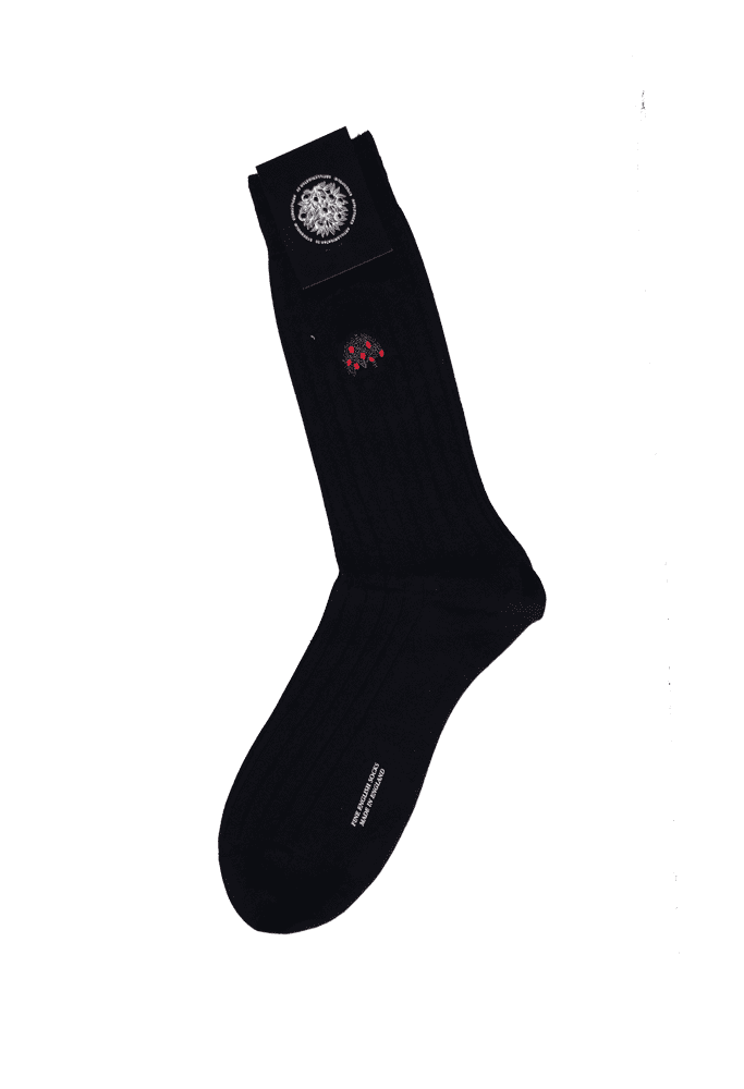 00be8a77a Appletrees Sea Island Cotton-Blend Socks With Sigil Embroidery – Navy –  OneSize